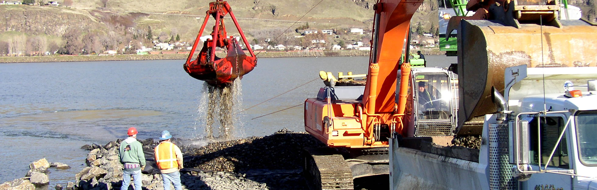 commercial excavation on riverfront